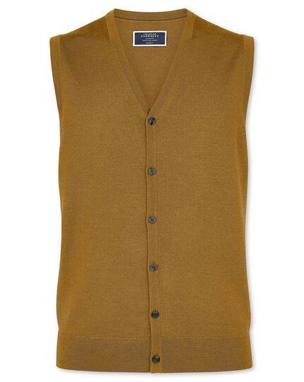 Dark yellow merino waistcoat