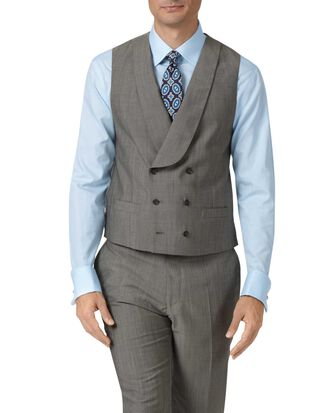 Grey adjustable fit Italian wool luxury suit vest