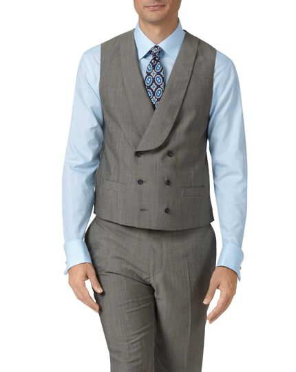 Grey adjustable fit Italian wool luxury suit waistcoat