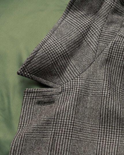 Car Coat aus Wolle in Grau mit Karos