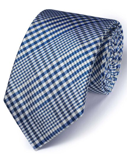Royal silk classic Prince of Wales check tie