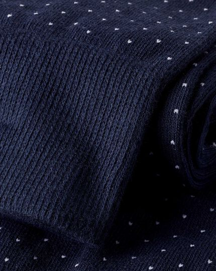 Micro Dash Socks - Navy & White