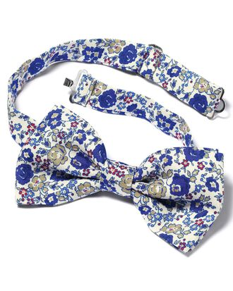 Royal silk floral Italian luxury ready-tied bow tie