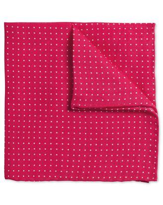 Pink linen spot classic pocket square