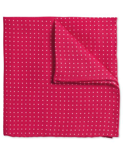Pink linen spot classic pocket square