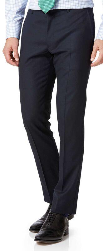 Extra Slim Fit Businessanzug-Hose aus Merino in Marineblau