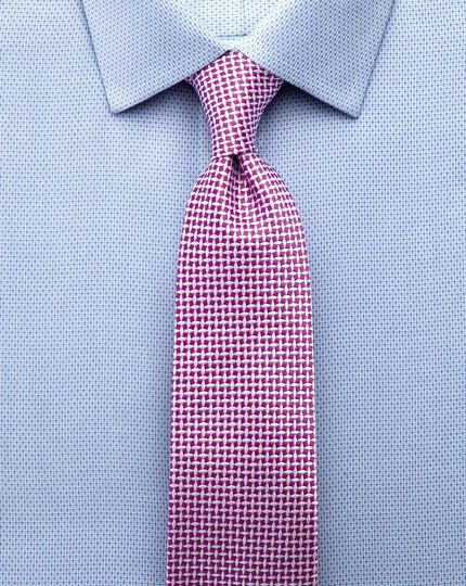 Slim fit non-iron imperial weave sky blue shirt