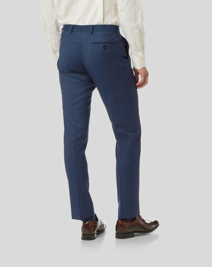 Pantalon de costume business en twill - Bleu de France