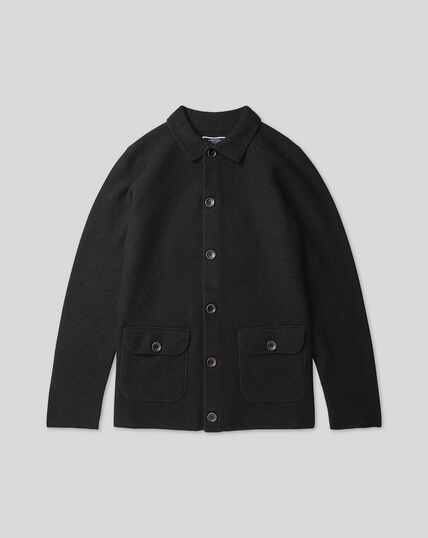Brushed Wool Jacket - Dark Navy