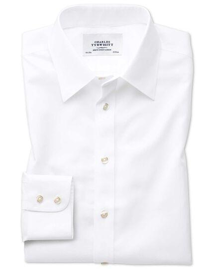 Chemise blanche en twill sans repassage slim fit avec col en pointe