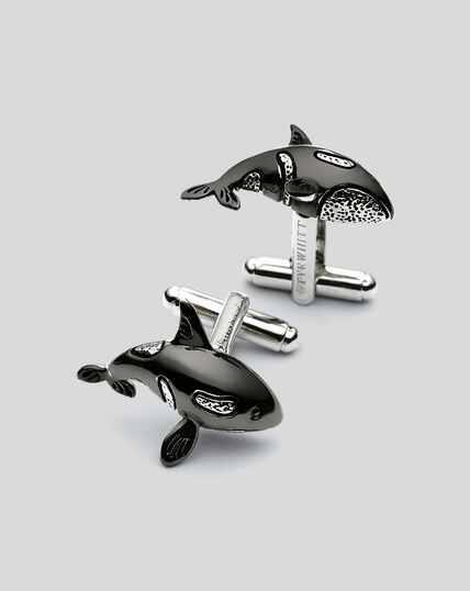 Manschettenknöpfe mit Orca-Design