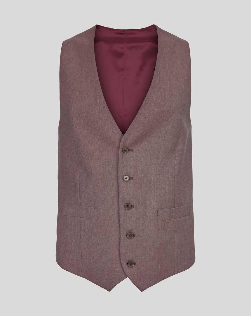 Twill Business Suit Vest - Fig