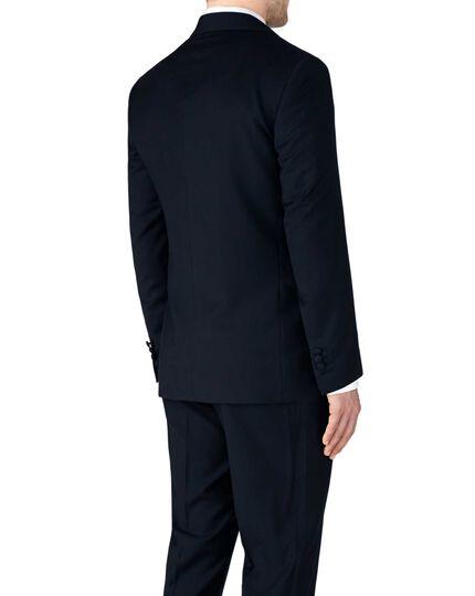 Midnight blue slim fit shawl collar tuxedo jacket