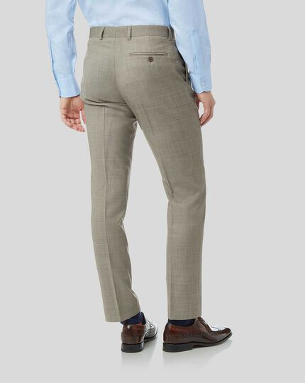 Textured Suit Pants - Stone