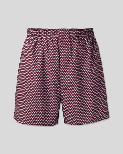 England Rugby Woven Boxers - Wine