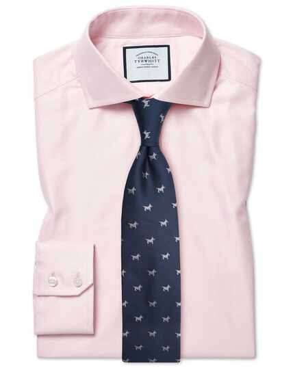 Cutaway Cotton Stretch With Tencel™ Shirt - Pink