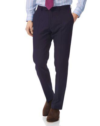 Navy slim fit British luxury suit pants