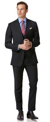 Slim Fit Business Anzug aus Twill in Schwarz