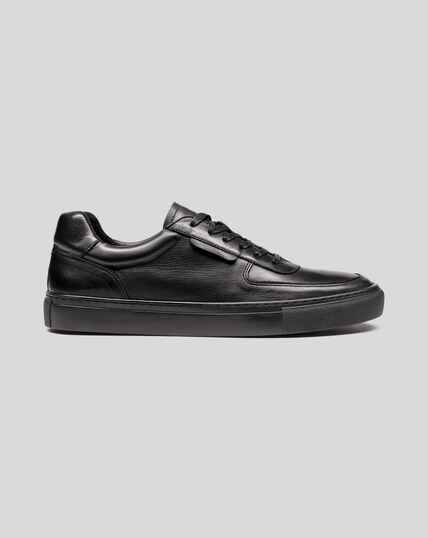 Leather & Suede Sneakers - Black