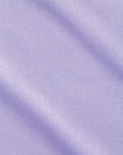 Extra slim fit cutaway non-iron poplin lilac shirt