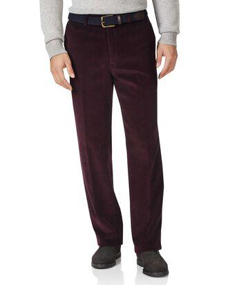 Wine classic fit jumbo corduroy pants