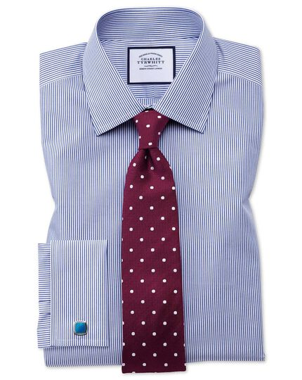 Berry and white silk spot classic tie