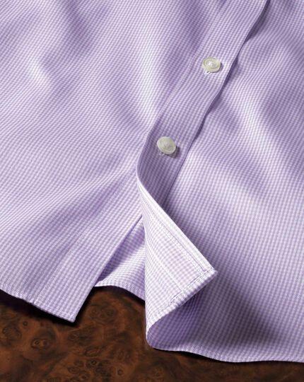 Bügelfreies Extra Slim Fit Hemd in Flieder mit Hahnentritt