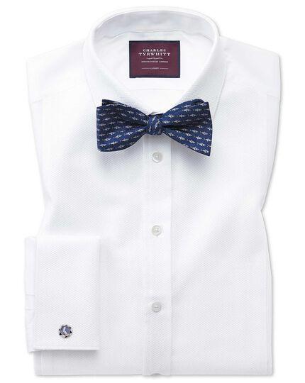 Extra slim fit luxury marcella bib front white dinner shirt