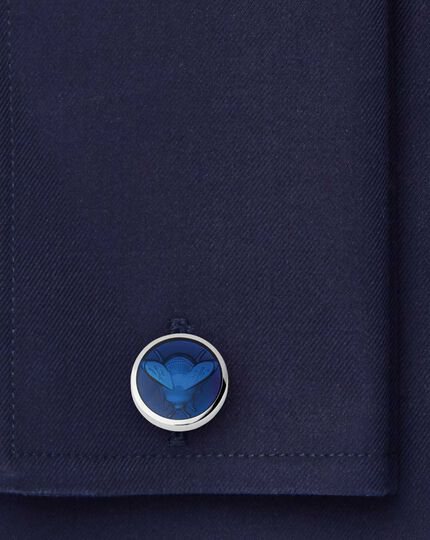 Emaille-Manschettenknöpfe mit Bienen-Design in Marineblau