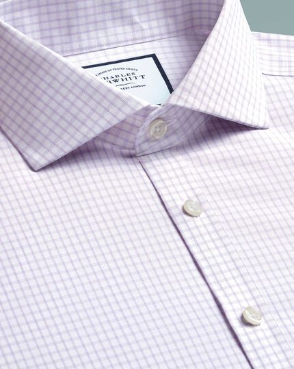 Super slim fit non-iron 4-way stretch lilac shirt