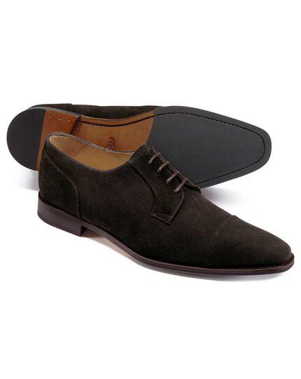 Derby-Schuhe aus Wildleder in Braun