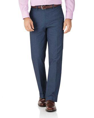 Pantalon bleu indigo coupe droite en sergé de cavalerie stretch