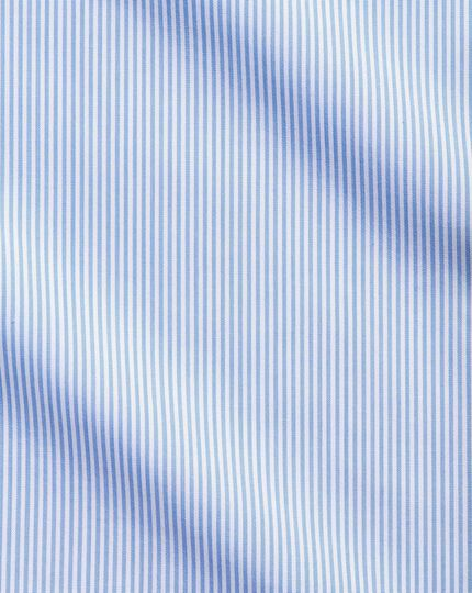Extra slim fit non-iron sky blue Bengal stripe shirt