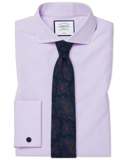 Navy multi paisley wool print luxury Italian tie