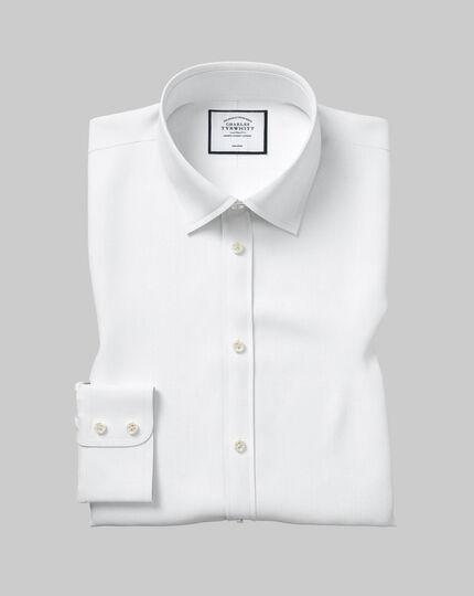 Classic Collar Non-Iron Twill Shirt - White