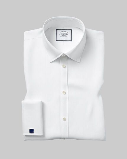 Classic Collar Non-Iron Twill Shirt  - White
