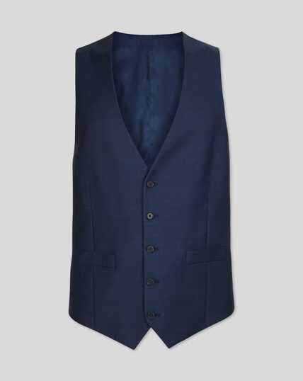 Gilet de costume business en twill - Bleu