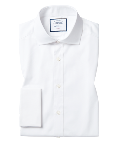 Spread Collar Poplin Shirt - White
