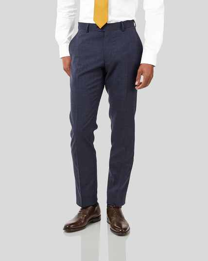 Crosshatch Suit Pants - Airforce Blue
