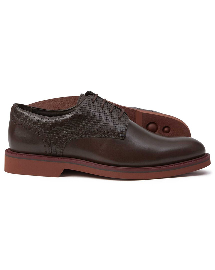 Chocolate extra lightweight Derby shoes