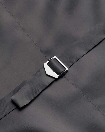 Gilet de costume business charcoal avec motif milleraies et coupe ajustable