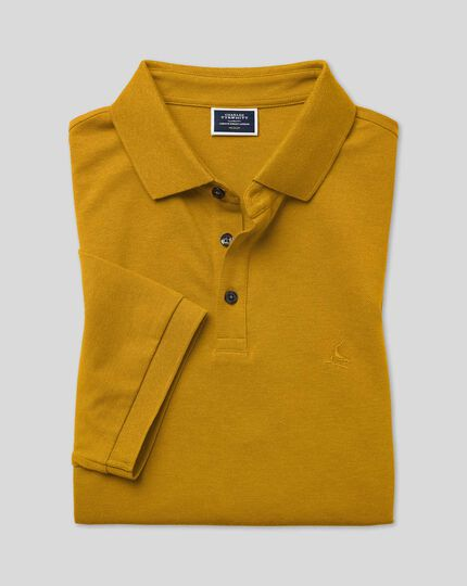 Tyrwhitt Pique Polo - Dark Yellow