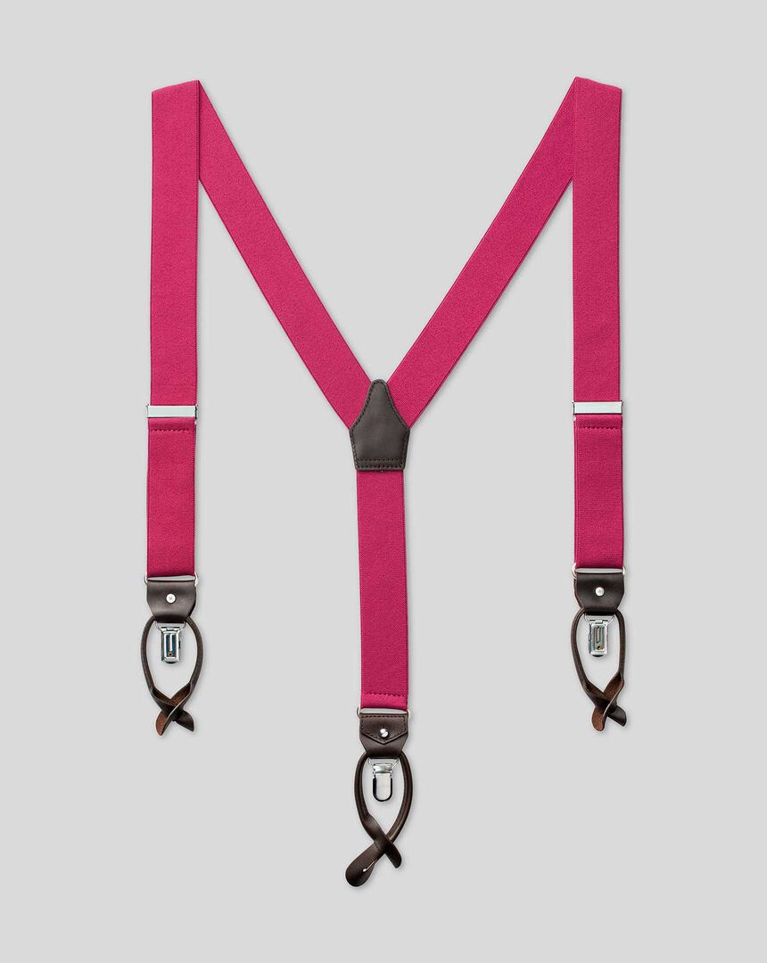 Combination Braces - Bright Pink