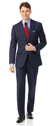 Costume business bleu marine jaspé coupe droite