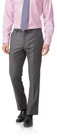 Light grey slim fit wool with cahsmere Italian suit