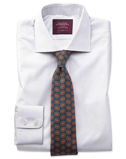 Slim fit grey stripe luxury shirt