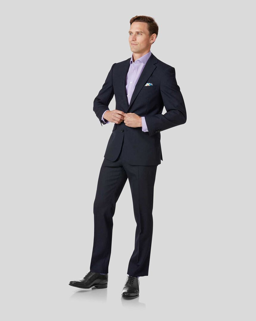 Merino Business Suit - Midnight Blue
