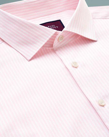 Chemise de luxe rose à rayures slim fit