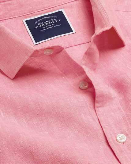 Hemd aus Leinen - Rosa
