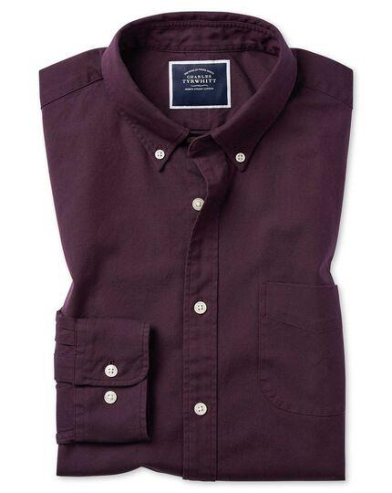 Chemise à col boutonné en oxford myrtille délavé extra slim fit